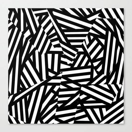 Simply Black and White 1 Canvas Print
