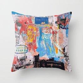 Basquiat Style 2 Throw Pillow