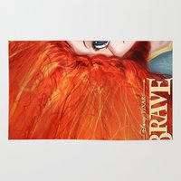 merida Area & Throw Rugs featuring Brave: Merida by Schewy