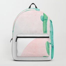 Desert Cactus Green with Rose Gold Sun Backpack