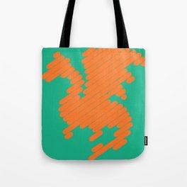 Stripey Dragon Tote Bag