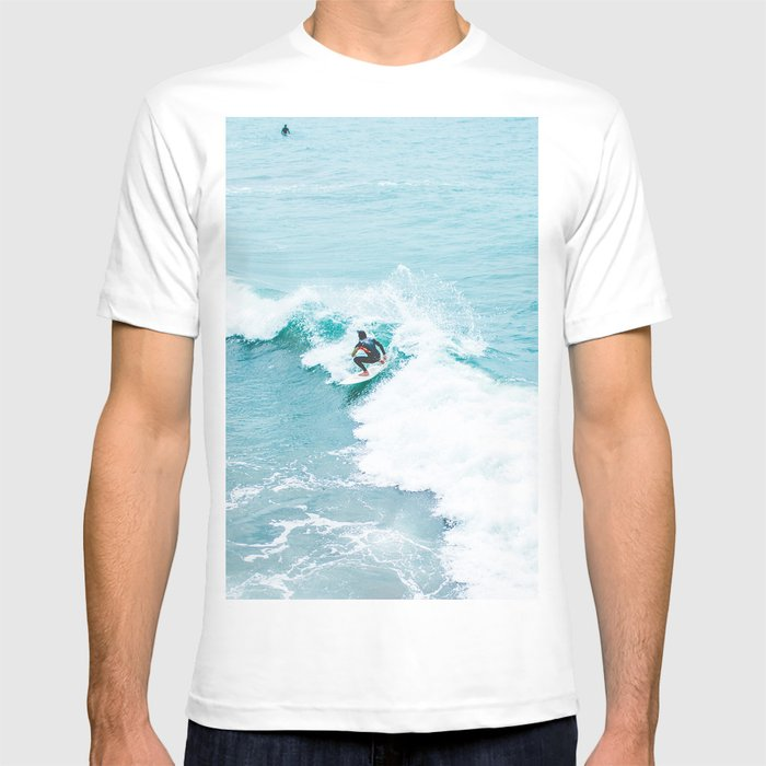 Wave Surfer Turquoise T-shirt