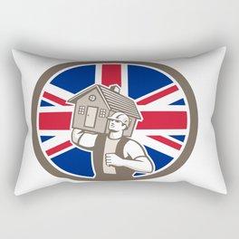 British House Removal Union Jack Flag Icon Rectangular Pillow