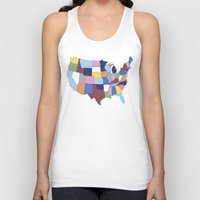 usa Tank Tops featuring USA by Project M