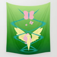 mlp Wall Tapestries featuring Magic Circle: Fluttershy by Mayiamaru