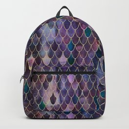 Mermaid Dark Purple Backpack