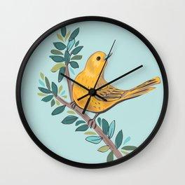 Yellow Warbler Wall Clock