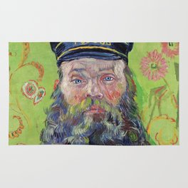 Vincent Van Gogh Postman Portrait Of Joseph Roulin Rug