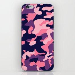 Pink Purple Camouflage iPhone Skin