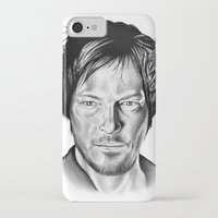 daryl iPhone & iPod Cases featuring Daryl Dixon by 13 Styx