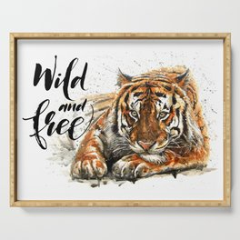 Tiger Wild and Free Serving Tray