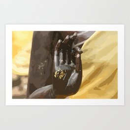 Buddha Hand Illustration Art Print