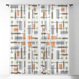 Mid Century Modern Geometric Pattern Sheer Curtain