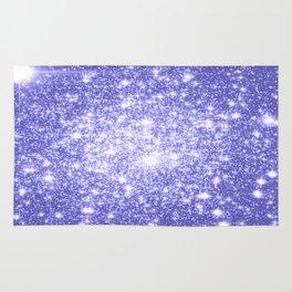 Lavender Periwinkle Sparkle Stars Rug