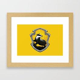 Hufflepuff Crest Framed Art Print