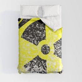 Radioactive Grunge Sign Comforters
