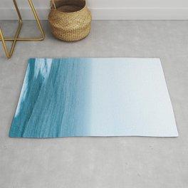 minimal ocean and horizon Rug