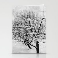 blankets Stationery Cards featuring Blankets of Snow by Bella Blue Photography