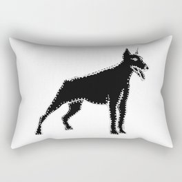 I have Connected the Doberman Pinscher Doggy Dots! Rectangular Pillow