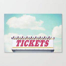 Carnival Ticket Booth Canvas Print