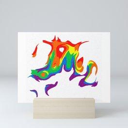 Rainbow Warp 5 Mini Art Print