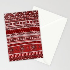 Yzor pattern 005 red Stationery Cards