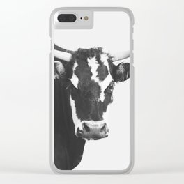 Modern Cow Clear iPhone Case