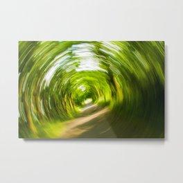Green Vortex Metal Print
