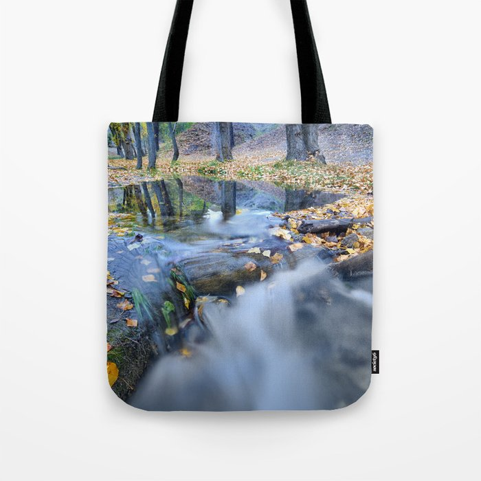"""""""White river"""" Into the woods Tote Bag"""