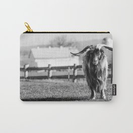 Long Horned Billy Goat_BW Carry-All Pouch