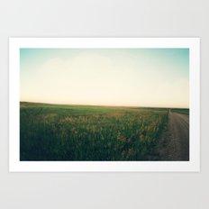 Country Roads (Rural South Dakota) Art Print