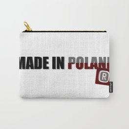 Made in Poland, patriotic shirts, country proud tee shirt design v.2 shadowed Carry-All Pouch