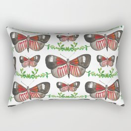 Black Butterfly Rectangular Pillow