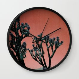Desert Joshua Trees in California Wall Clock