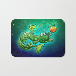 Christmas Abyssal Angler Fish Bath Mat