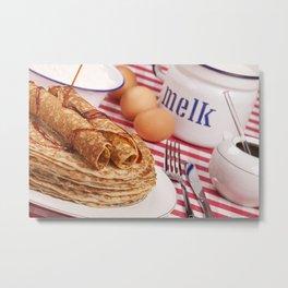 II - Dutch pancakes with syrup or 'pannenkoeken met stroop' Metal Print