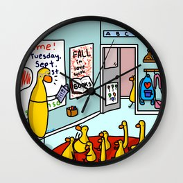Kindergarten Classroom | Veronica Nagorny Wall Clock
