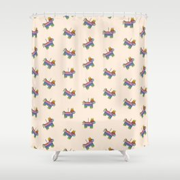 Life of the Party | Peach Pinata Shower Curtain