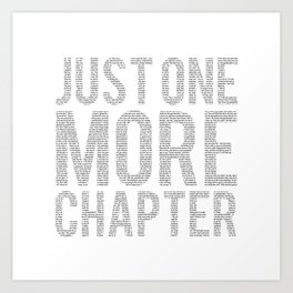 Just One More Chapter Art Print