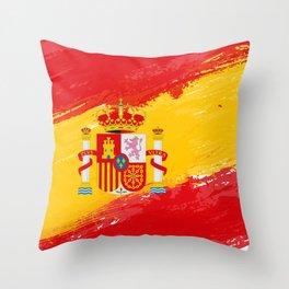Spain's Flag Design Throw Pillow