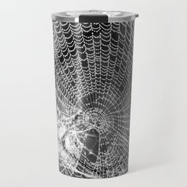 Raindrop Covered Spiderweb Travel Mug