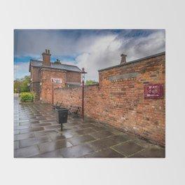 Hadlow Victorian Railway Station Throw Blanket