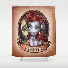 FOREVER pinup Shower Curtain