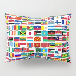 Flags Of The World Pillow Sham