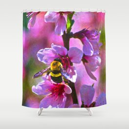 Vibrant Bee Shower Curtain