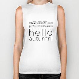 Hello autumn! (white) Biker Tank