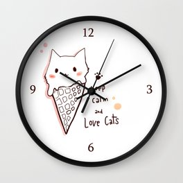 Keep calm and love cats *MeowCollection* Wall Clock