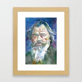 JOHANNES BRAHMS - watercolor portrait.1 Framed Art Print
