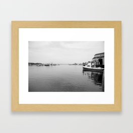 Fish dock Framed Art Print