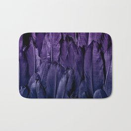Blue Purple Feathers Bath Mat